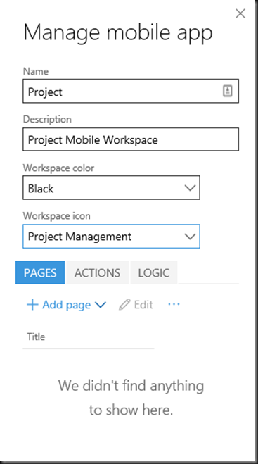 Mobile Workspaces in Dynamics 365 for Operations