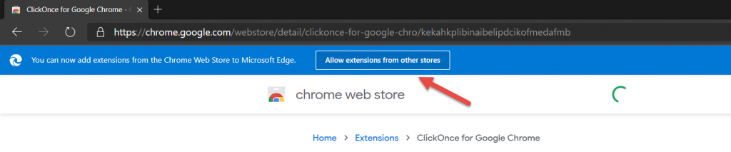 clickonce for google chrome